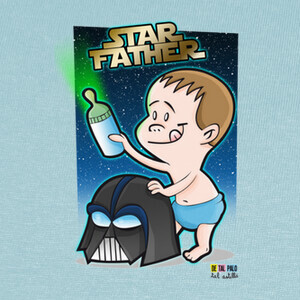 STAR FATHER PEQUES T-shirts