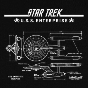 Camisetas STAR TREK, ENTERPRISE 1