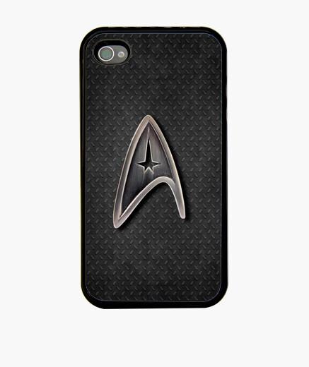 Funda iPhone Star Trek logo metálico