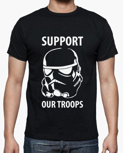 Camiseta Star Wars - Suppor our troops