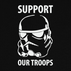 Camisetas Star Wars - Suppor our troops