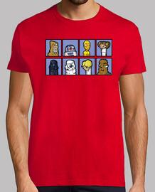 Star Wars Comic style StarWars camisetas friki
