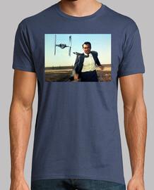 Star Wars Con la muerte en los talones  camisetas friki