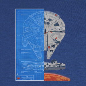 Camisetas Star Wars Falcon