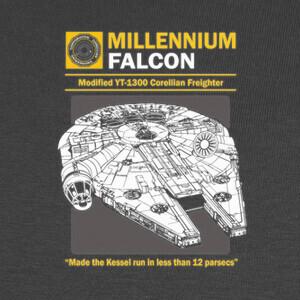 Camisetas Star Wars: MIllenium Falcon