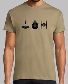 Star wars naves negro, hombre mc