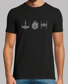 star wars ships gray, man mc