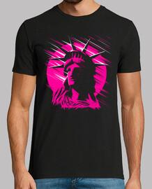 statue de la liberté rose