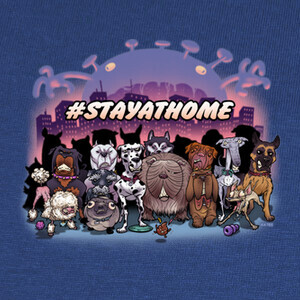 STAY AT HOME-DOGS T-shirts