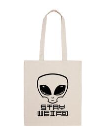 stay weird alien head