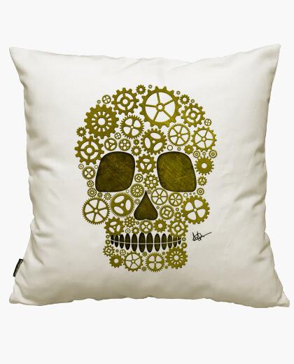 Housse de coussin steampunk crâne d' gold !!!