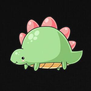 Camisetas stegosaurus kawaii bebe