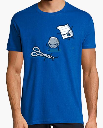 T-Shirt stein, papier, schere