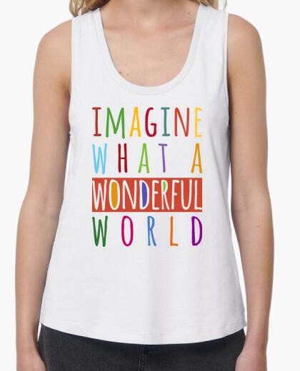 T-Shirt stellen sie sich vor, was eine wunderbare welt