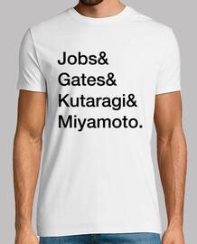 steve jobs, bill cancelli, ken kutaragi e shigeru miyamoto