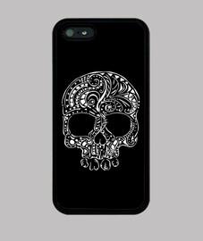 stile tatuaggio tribale del cranio gotico iphone 5 caso