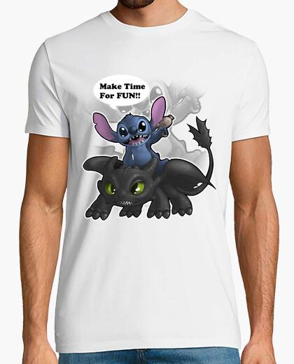 Camiseta Stitch y Desdentao