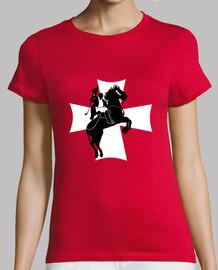 st.joan Mujer, manga corta, roja, calidad premium