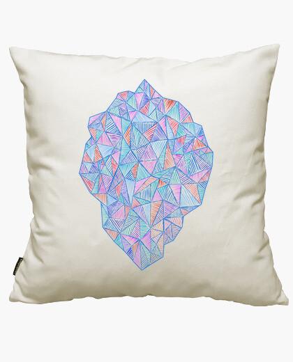Housse de coussin stone de triangles mixtes