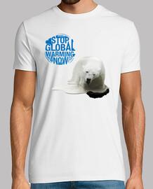 Stop Global Warming Now - Ours Polaire (Arrêter le Réchauffement Climatique Maintenant)