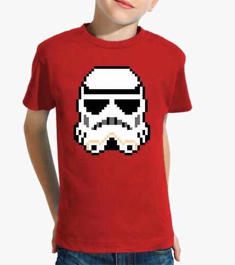 Ropa infantil Stormtrooper 8bit (Camiseta Niño)
