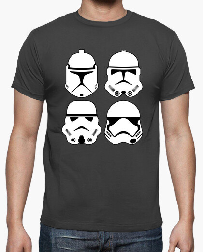 Camiseta Stormtrooper evolution (chico)