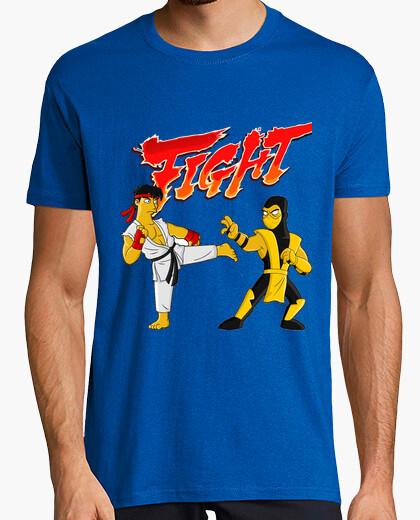 Camiseta Street fighhter fight mortal kombat