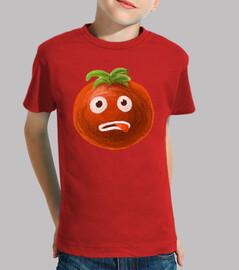 stressato cartoni animati di pomodoro divertente
