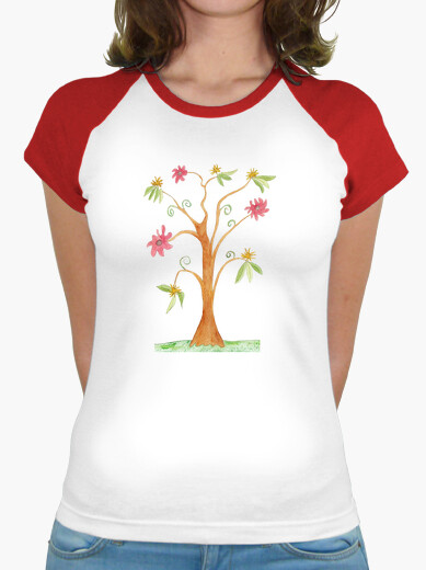 Striking surreal colorful tree t-shirt