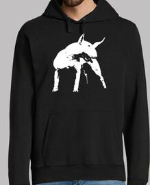 style pop art de bull terrier.