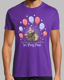 su fiesta de pino - fiesta puercoespín - camisa para hombre