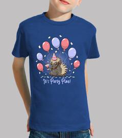 su fiesta pino - fiesta puercoespín - camisa para niños