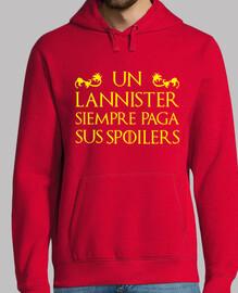 Sudadera - Juego de Tronos - Un Lannister siempre paga sus spoilers