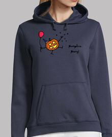 Sudadera chica Halloween: calabaza
