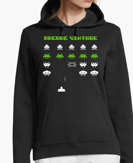 Jersey Sudadera Chica Space Invaders Arcade Vintage