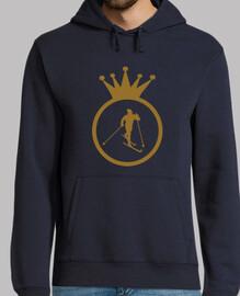 sudadera con capucha hombre de esquí, marina de guerra