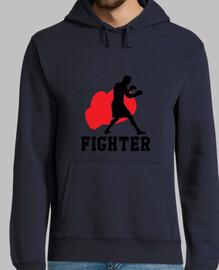 sudadera con capucha hombre luchador, marino