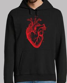 Sudadera Corazón Vintage (Negativo)