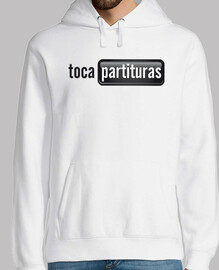 Sudadera de Partituras Blanco y Negro Chico tocapartituras.com