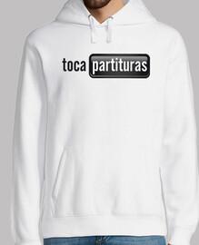 Sudadera de Partituras Blanco y Negro Chico tocapartituras.com
