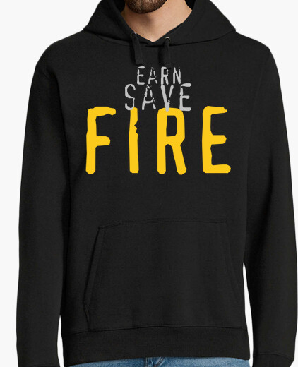 Sudadera Earn, Save, FIRE - con texto personalizable