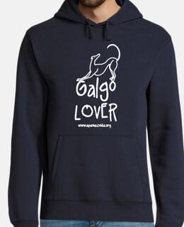 SUDADERA GALGO LOVER CHICO LETRA BLANCA