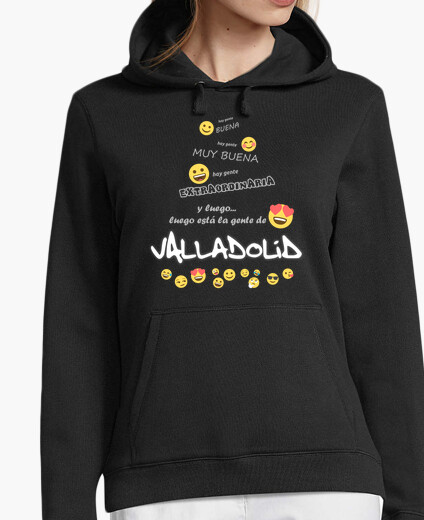 Sudadera Gente de Valladolid Emoji (for dark) FJ1
