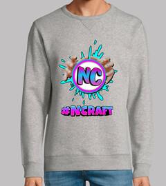 Sudadera gris sin capucha #NCRAFT