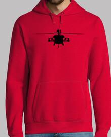 Sudadera Helicoptero silueta frente
