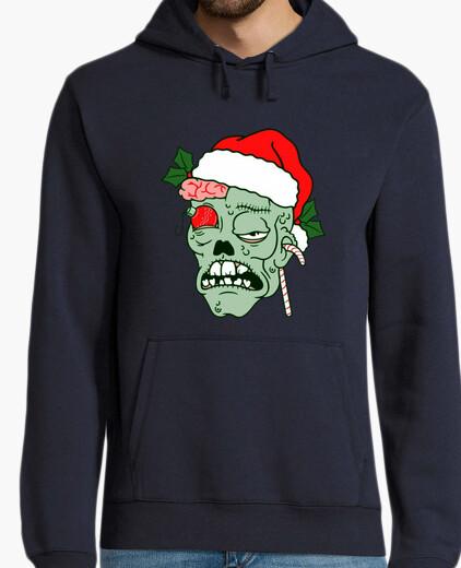 Sudadera hombre Navidad Zombie
