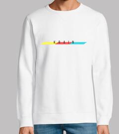 Sudadera Krain Music - Logo Krain con barra 3 colores
