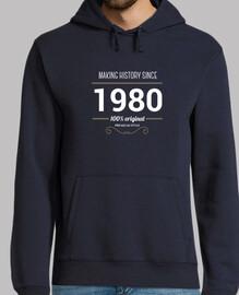 Sudadera Making history 1980 cumpleaños