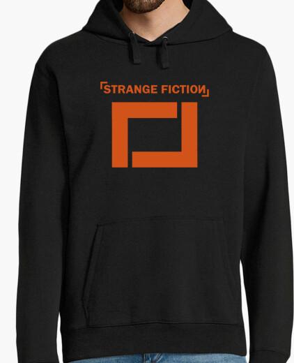 Jersey Sudadera negra con logo Naranja