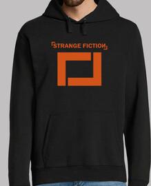 Sudadera negra con logo Naranja